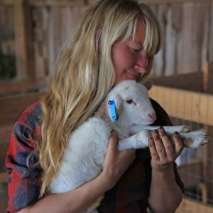 Farmer Kat and Lamb