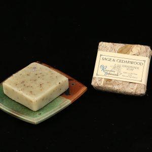 Riverstone Botanicals Sage and Cedarwood Handmade Soap