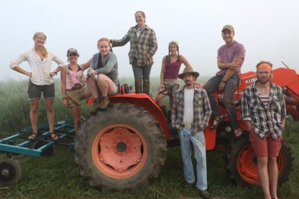 Farm Staff with Tractor